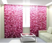 Фотошторы блеск розовый
