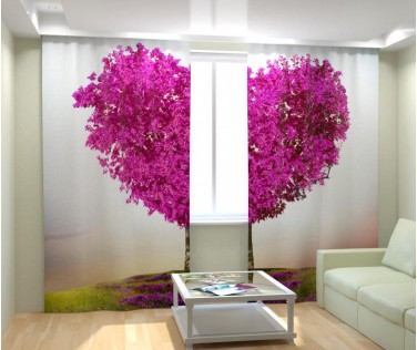 Фотошторы дерево сердце