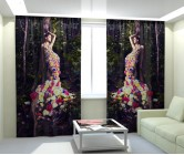 Фотошторы цветочное платье