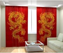Фотошторы китайский дракон
