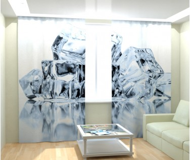 Фотошторы кубики льда