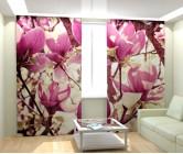 Фотошторы цветочное розовое дерево