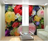 Фотошторы цветочный ассортимент
