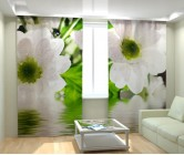 Фотошторы цветы белые