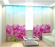 Фотошторы нарисованные цветы