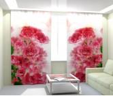 Фотошторы розовые цветы