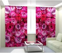 Фотошторы розовые розы