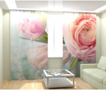 Фотошторы розовый цветок