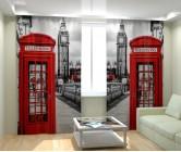 Фотошторы Телефонная будка в Лондоне