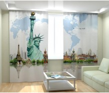 Фотошторы Нью Йорк на карте