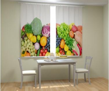 Фотошторы аппетитные фрукты