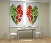 Фотошторы овощное сердце