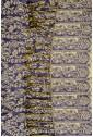Двухсторонний палантин фиолетово-золотой