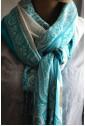 Палантин тихоокеанский синий с белым узором