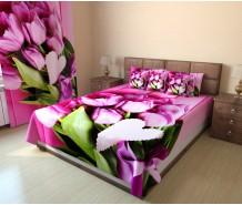 Фотопокрывало букет розовых тюльпанов