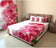 Фотопокрывало розовые цветы
