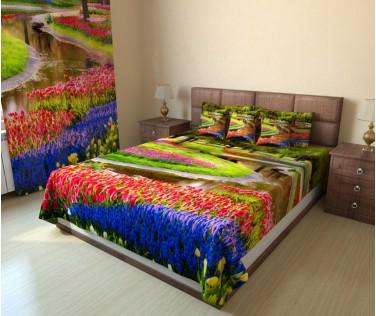 Фотопокрывало сад в цветах