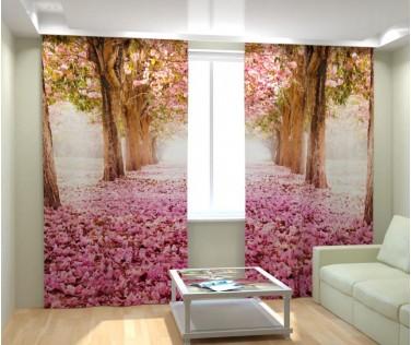 Фотошторы цветочная аллея