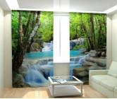 Фотошторы лесной водопад
