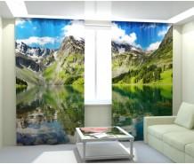 Фотошторы озеро в горах