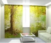 Фотошторы утренний сказочный лес