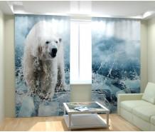 Фотошторы полярный медведь