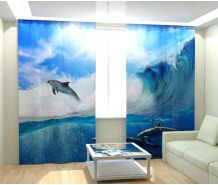 Фотошторы дельфины