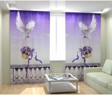 Фотошторы белый голубь