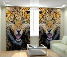 Фотошторы дикий леопард