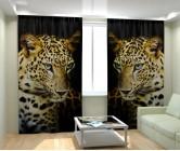 Фотошторы взгяд леопарда