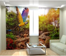 Фотошторы летящий попугай