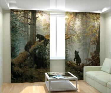 Фотошторы медведи в сосновом бору