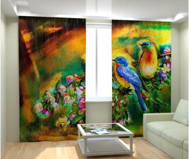 Фотошторы райские птицы